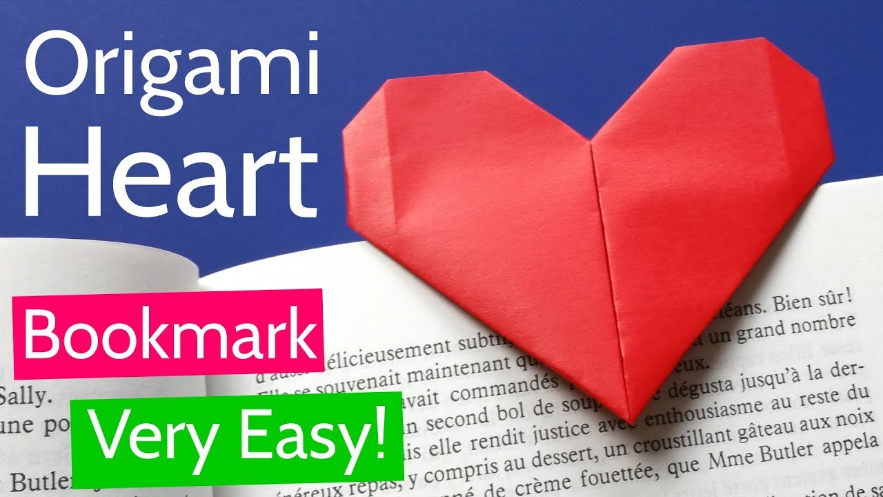 How to make an Origami Heart - Fold by fold, paper instructions ... | 720x1280