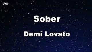 Video Sober - Demi Lovato Karaoke 【No Guide Melody】 Instrumental download MP3, 3GP, MP4, WEBM, AVI, FLV Juli 2018