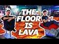 THE FLOOR IS LAVA CHALLENGE Ft Brandon Kent!