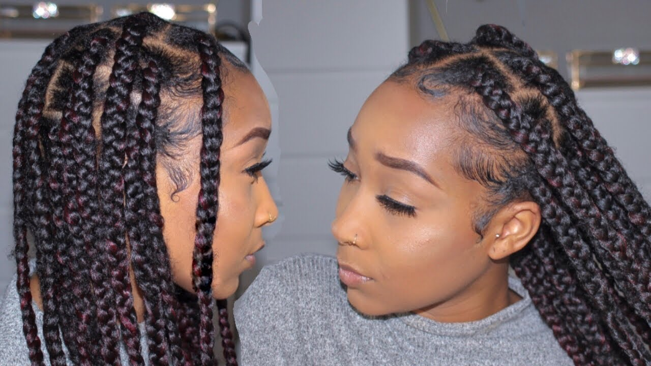 How To Diy Jumbo Knotless Box Braids 2 Easy Methods No Feed In Youtube What are knotless box braids and how to install them properly. how to diy jumbo knotless box braids 2 easy methods no feed in