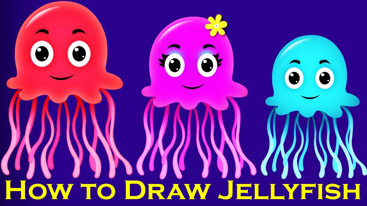 How to Draw Jellyfish | Creative Art Work | Easy Drawing ...