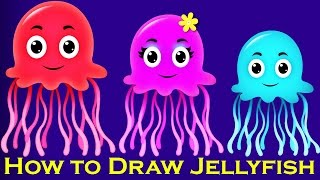 How to Draw Jellyfish | Creative Art Work | Easy Drawing Steps