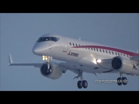 Mitsubishi MRJ90 JA22MJ Test Plane USA Arrival to Moses Lake KMWH Airport