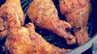 Ninja 4qt Air Fryer Fried Chicken Legs Smithfields breading