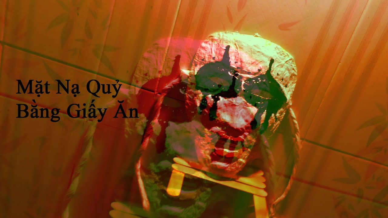[Handmade_DIY] Làm mặt nạ quỷ chơi Halloween bằng giấy ăn cực đẹp | Halloween Mask