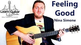 Feeling Good - Guitar Tutorial - Nina Simone - Muse - Acoustic