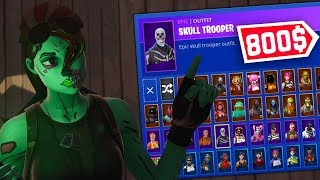 MY $850 Skins INVENTORY at Fortnite!