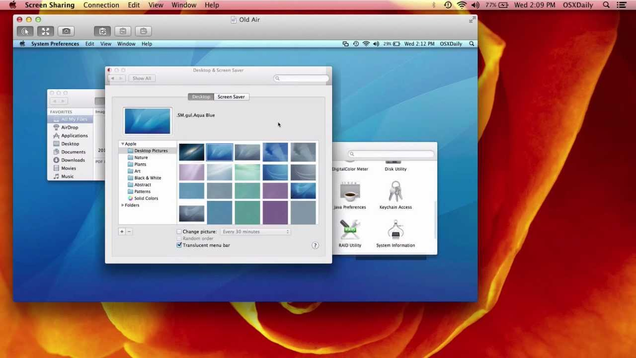 Remote Control a Mac with Screen Sharing in Mac OS X