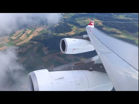 Swiss A340-300 - Beautiful Takeoff out of Zurich to Dusseldorf
