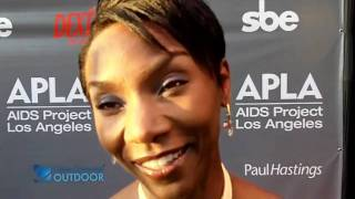 THE WALKING DEAD's Jeryl Prescott on zombies and Season 2 at the Abbey/APLA Oscar party 2011