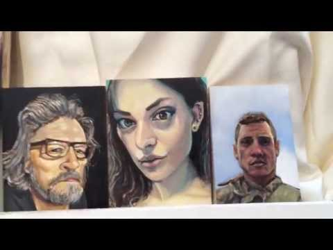 Yoni Matatyaou - Reddit Gets Drawn - Miniature Portrait painting.