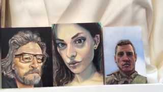 Yoni Matatyaou - Reddit Gets Drawn - Miniature Portrait painting.