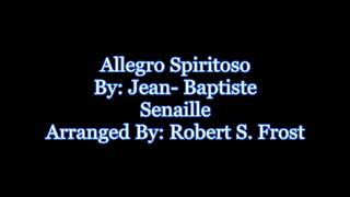 Allegro Spiritoso-Jean-Baptiste Senaille [Violin Solo w/Orchestra]