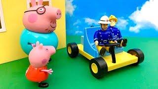 Bajka Strażak Sam i Świnka Peppa po Polsku  Wóz strażacki sie zepsuł