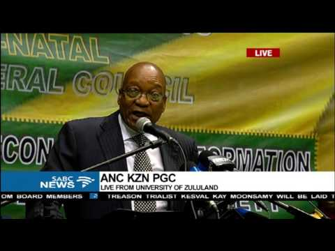 President Zuma addresses the ANC KZN Provincial General Council