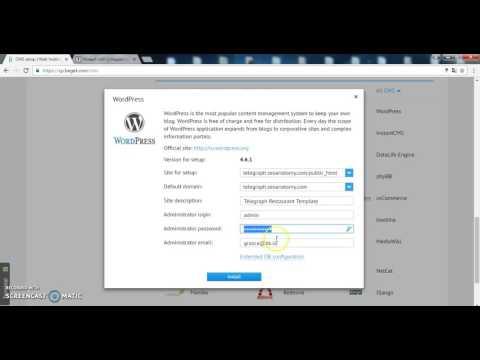 Wordpress installation for Telegraph Restaurant Theme