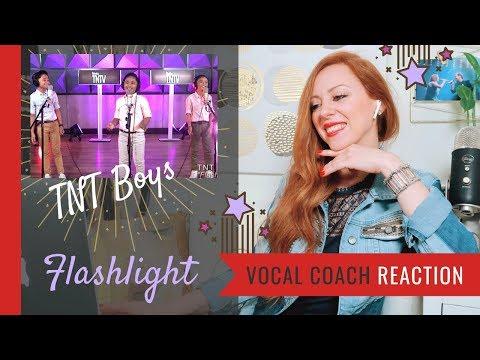 TNT Boys Flashlight - Vocal Coach Reaction