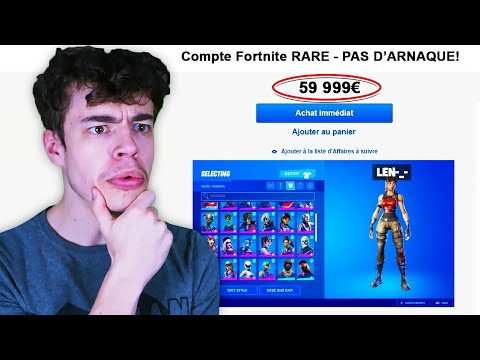 IL ACHETE mon COMPTE Fortnite 59.000€..(ça va trop loin)