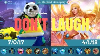 Fastest Cannon Ball! Mobile Legends Akai & Rafaela Glorious Legend Ranked Gameplay wth Commentary