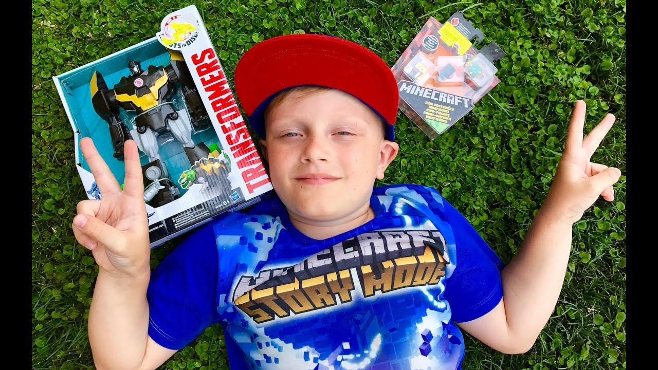 ТРАНСФОРМЕРЫ Автоботы МАЙНКРАФТ Minecraft грушки для мальчиков Toys for boys Transformers for kids