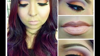 Look: Peach Rose (Pale peach and orange smokey eyes) Thumbnail
