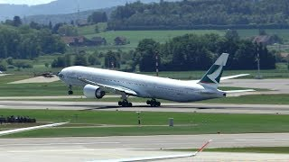 Cathay Pacific Boeing 777-300ER departure at Zurich Airport