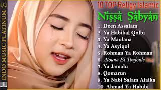 TOP 10 NISSA SABYAN   Urutan Lagu Sabyan Terpopuler   HQ Audio!!!