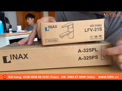 TDM.VN   Đập Hộp Vòi Chậu Rửa Mặt Inax LFV-21S - LFV-21SP Nước Lạnh Gắn Lavabo