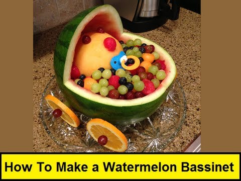 How To Make a Watermelon Bassinet (HowToLou.com) - YouTube