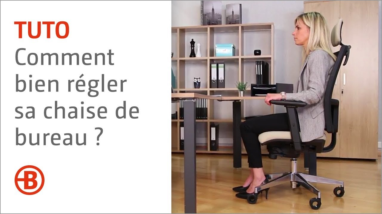 comment bien r gler sa chaise de bureau bruneau youtube. Black Bedroom Furniture Sets. Home Design Ideas