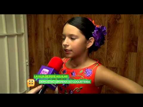 Ángela hija de Pepe Aguilar puso a temblar a su hermano