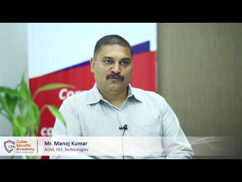Mr. Manoj Kumar, HCL Technologies | Cyber Security Academy launch by Skill Cube
