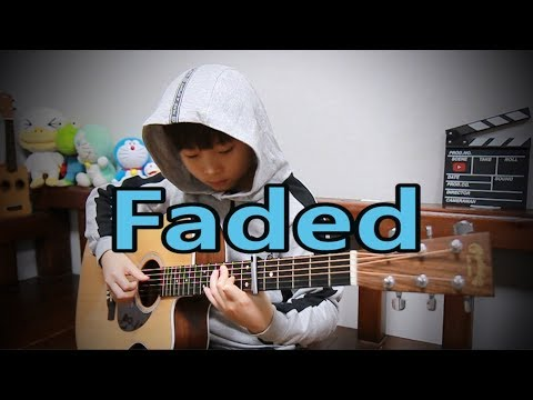 Faded (Alan Walker) fingerstyle guitar arranged & cover by 10-year-old kid Sean Song
