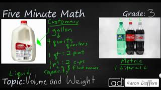 3rd Grade Math Volume and Weight