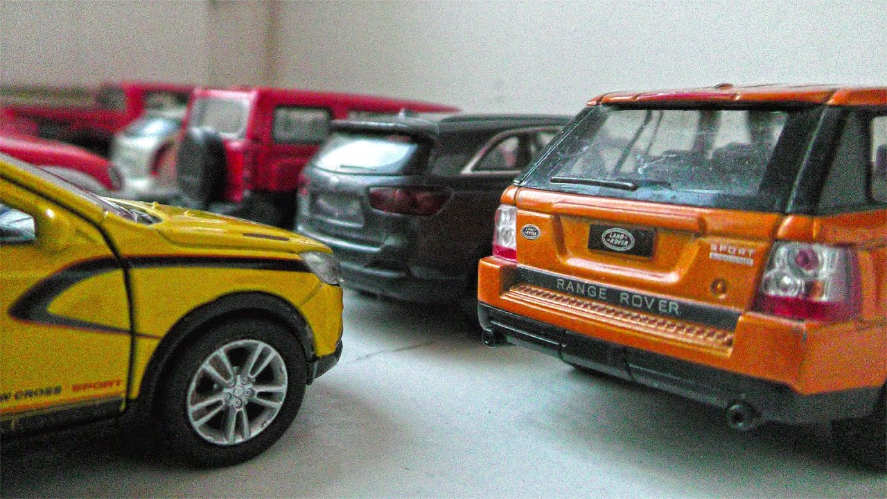 7 Diecast Cars Shown While they move