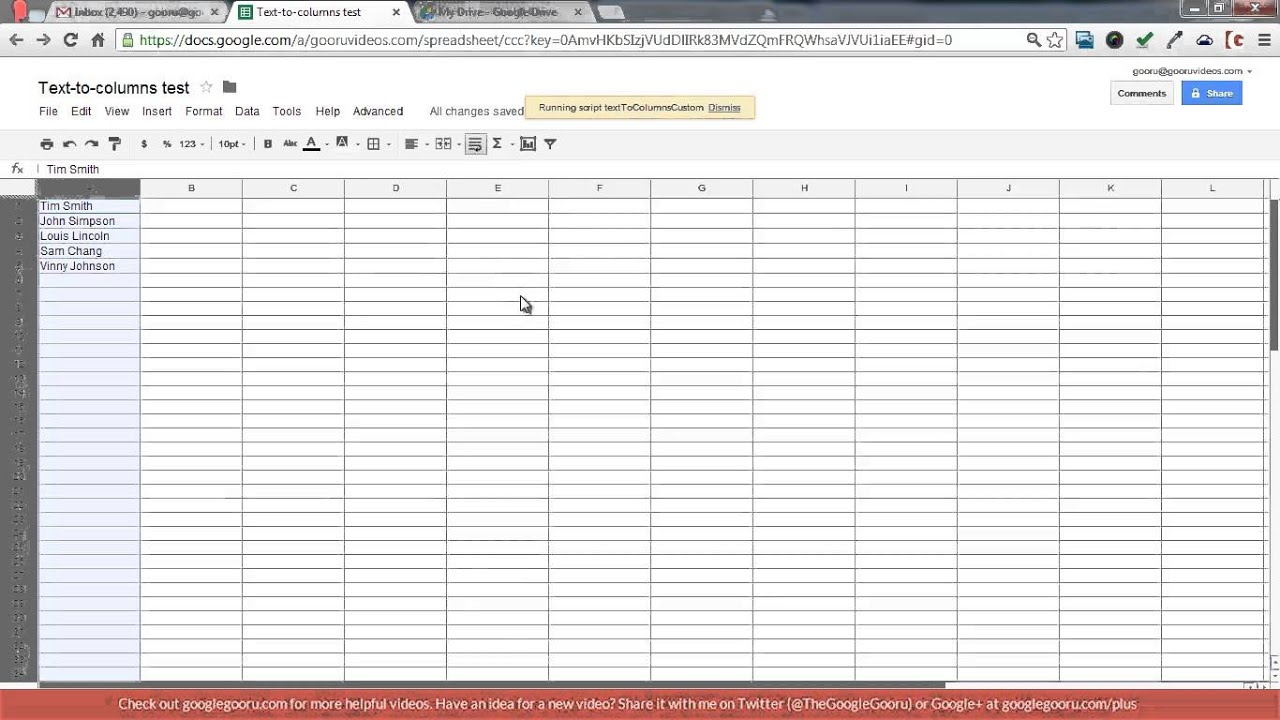 How To Do Text To Columns In Spreadsheets