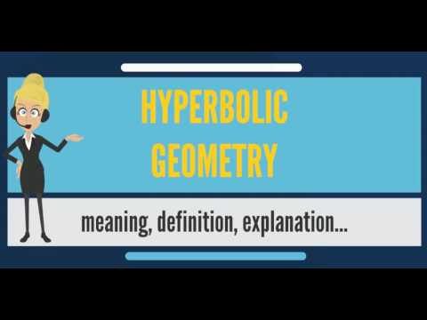 What is HYPERBOLIC GEOMETRY? What does HYPERBOLIC GEOMETRY mean?