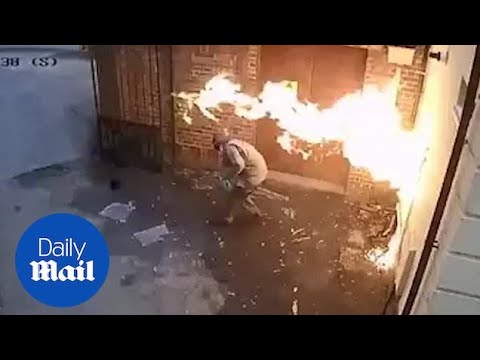 Jake Dill - White Supremacist Lights Head on Fire While Trying to Burn Synagogue
