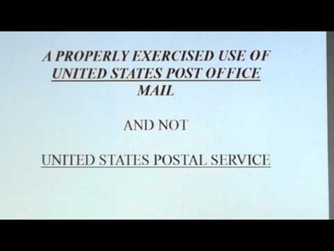 (Pt.1) A PROPERLY EXERCISED USE OF U.S. POST OFFICE MAIL
