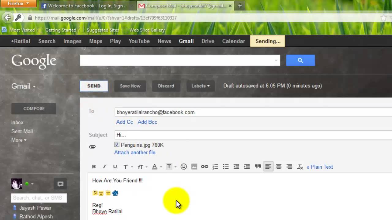 send email gmail id to facebook id facebook id to gmail id and check emails gmail facebookmp4 youtube