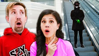 HUNTING OUR STALKER at the MALL if Everything was like Among Us, but In Real Life Hide and Seek