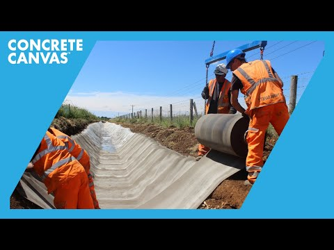 Concrete Canvas (CC) Channel Lining - Sherston, Wiltshire - BAM Nutall