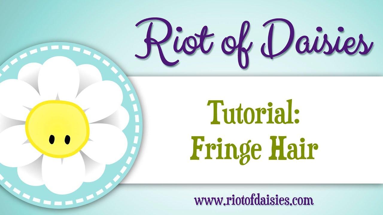 how to make hair fringe