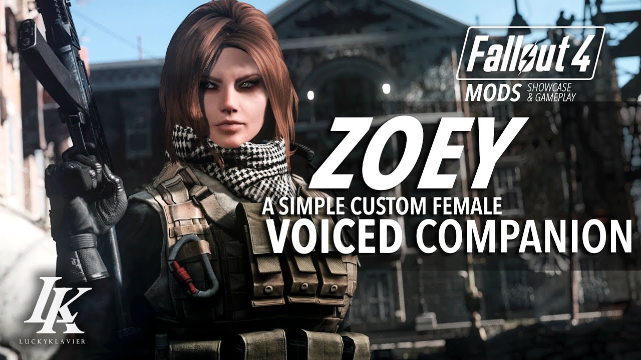 Zoey Voiced Companion: Fallout 4 Mod