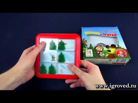 Маша и Медведь: Играем в прятки. Обзор настольной игры-головоломки от Игроведа