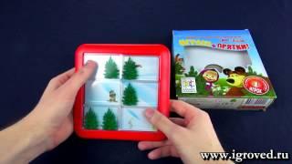 Маша и Медведь Играем в прятки Обзор настольной игры головоломки от Игроведа