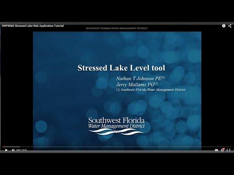 SWFWMD Stressed Lake Web Application Tutorial