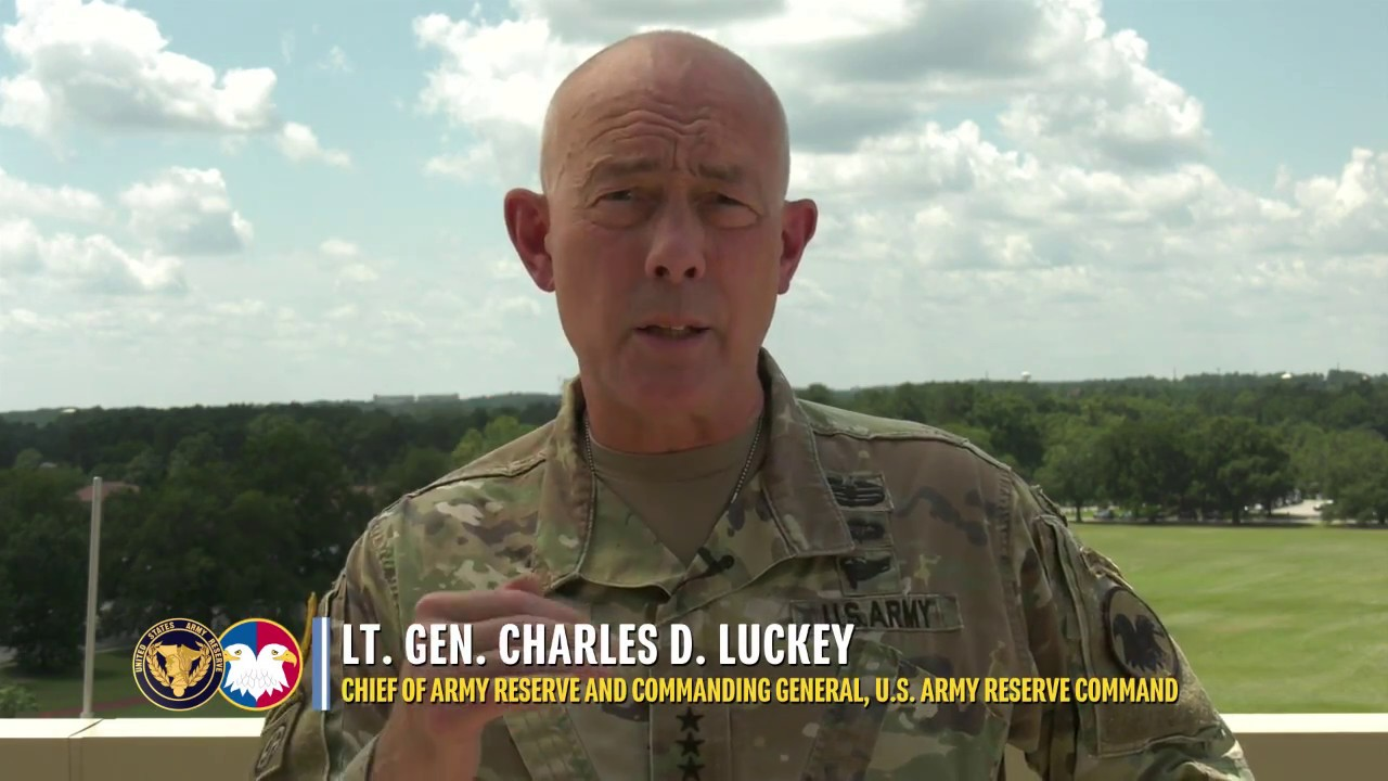 "Lt. Gen. Charles D. Luckey calls on U.S. Army Reserve Soldiers to ""know what right looks like"" hold themselves and each other accountable, and focus on the fundamentals of Fieldcraft."