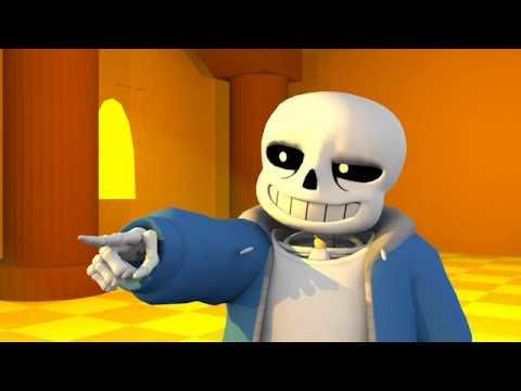 Stronger Than You Sans Response   Undertale 3D Animation