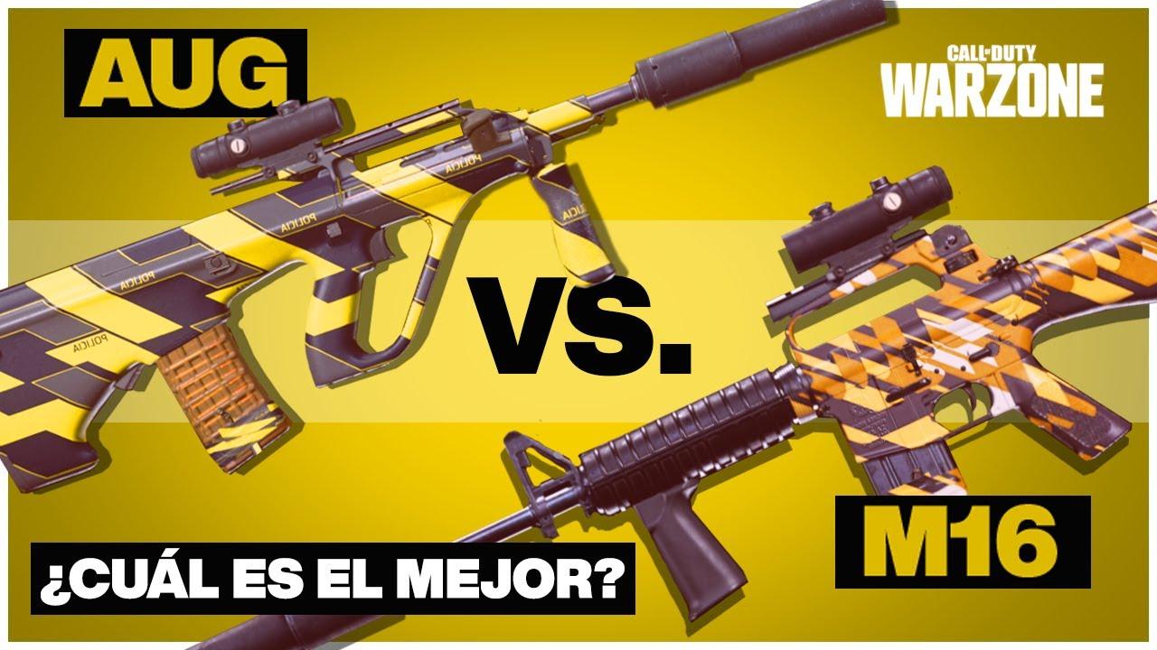 Download AUG vs M16   ¿Cuál es el Mejor Fusil de Ráfagas para Warzone?